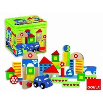 Boîte 40 bloques construction + voiture Goula -50203