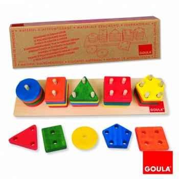 Encastrement 25 formes colorées Goula -51111