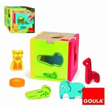 Cube animaux à encastrer Goula -53424