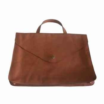 Leather portfolio with handle Sol Luna -PN964A
