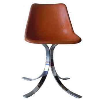 Giron chair four silver legs Sol Luna -PN9144
