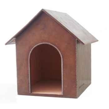Petite niche en cuir pour chien Sol Luna -HCcasap