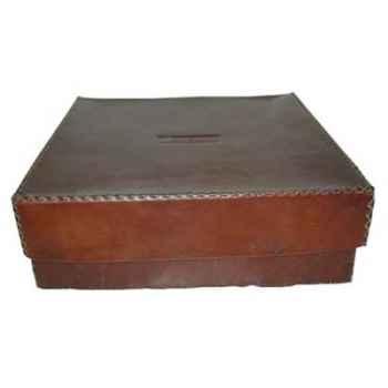Boîte carrée en cuir Sol Luna -PN922
