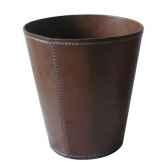 poubelle a papier en cuir soluna pn975