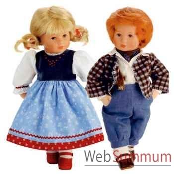 Kathe Kruse®  - Poupée Enfants du Bonheur Steffi et Luca, 39 cm - 42701