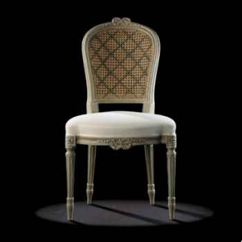 Chaise louis xvi ruban dos canné Massant -L16T11/1