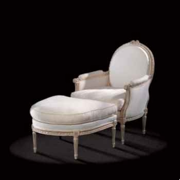 Repose-pied louis xvi medaillon Massant -L16TF16/1