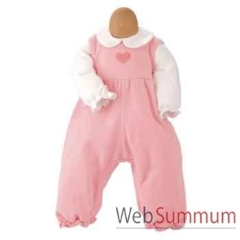 Kathe Kruse® - Vetement grenouillère rose pour poupée bébé de 38 à 43 cm - 33879