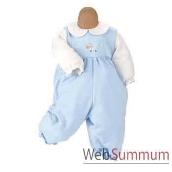 Kathe Kruse® - Vetement grenouillère bleu pour poupée bébé de 47 à 50 cm - 33876