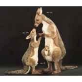 peluche kangourou debout 175 avec son bebe et joey 120 cm piutre 2411