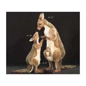 Peluche kangourou debout 175 avec son bébé et joey 120 cm Piutre -2411