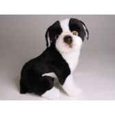 peluche boston terrier assis 30 cm piutre 4221