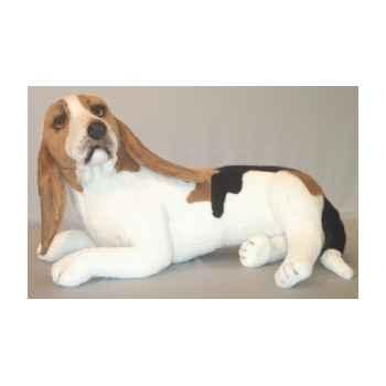 Peluche allongée basset hound 80 cm Piutre -3284