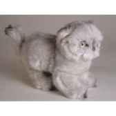 peluche debout chat persan argente 20 cm piutre 2426
