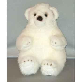 Peluche ours blanc 40 cm Piutre -G020