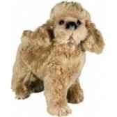peluche debout poodle abricot 35 cm piutre 286