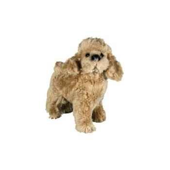 Peluche debout poodle abricot 35 cm Piutre -286