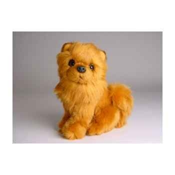 Peluche assise chow chow cannelle 28 cm Piutre -1302