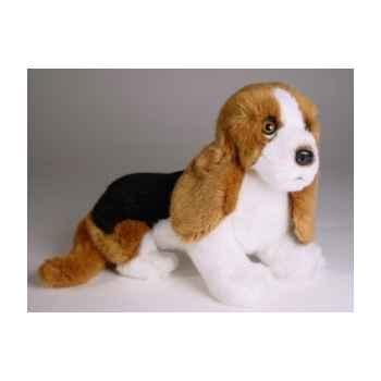 Peluche assise basset-hound 30 cm Piutre -3252