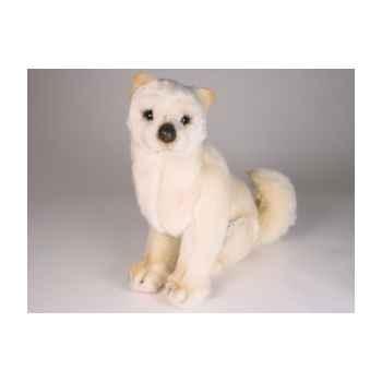 Peluche assise shiba inu crème 40 cm Piutre -3368