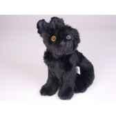 peluche assise schnauzer noir 28 cm piutre 1315