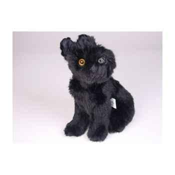 Peluche assise schnauzer noir 28 cm Piutre -1315