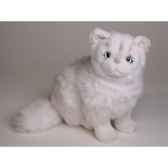 peluche assise chinchilla chat persan 30 cm piutre 2302