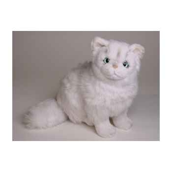Peluche assise chinchilla chat persan 30 cm Piutre -2302