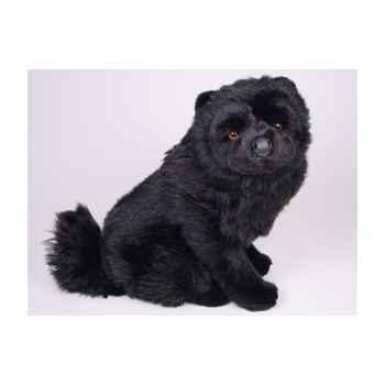Peluche assise chow chow noir 50 cm Piutre -3347