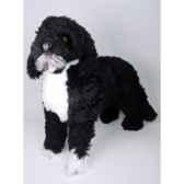 peluche debout chien d eau portugais 70 cm piutre 4225
