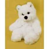 peluche assise ours polaire 40 cm piutre 2117