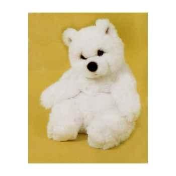 Peluche assise ours polaire 40 cm Piutre -2117