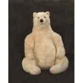 peluche assise ours polaire 70 cm piutre 2128