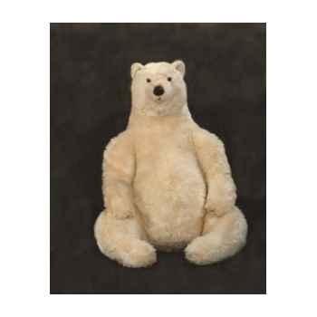 Peluche assise ours polaire 70 cm Piutre -2128