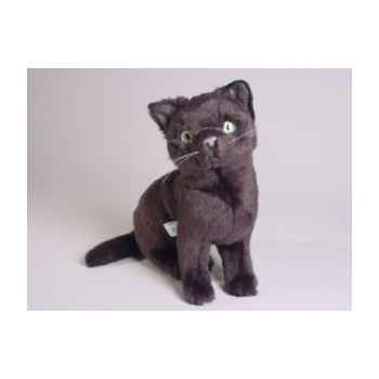 Peluche assise chat russe bleu 30 cm Piutre -2352