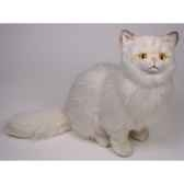 peluche assise chat persan chinchilla beige 50 cm piutre 2305