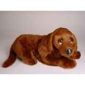 peluche allongee irish setter 40 cm piutre 3225