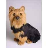 peluche assise yorkshire terrier 35 cm piutre 3298
