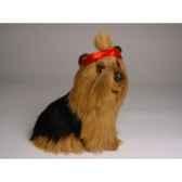 peluche assise yorkshire terrier 28 cm piutre 1301