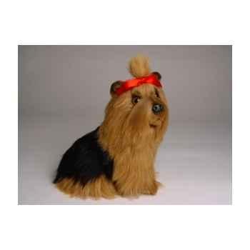 Peluche assise yorkshire terrier 28 cm Piutre -1301