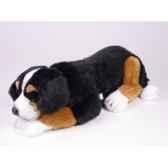 peluche allongee chien de montagne bernois 50 cm piutre 1265