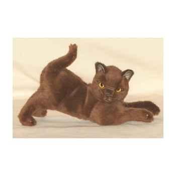 Peluche chat birman assis 30 cm Piutre -2330