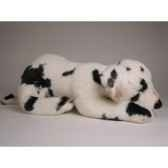 peluche allongee dalmatien 40 cm piutre 3244