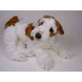 peluche allongee fox terrier 60 cm piutre 3276