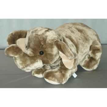Peluche Eléphant couché 65 cm Piutre -G120