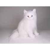 peluche assise chat blanc angora 45 cm piutre 2332