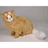 peluche assise chat turc de van marron 45 cm piutre 326