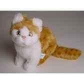 peluche assise chat roux et blanc 23 cm piutre 2342
