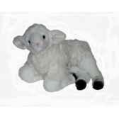 peluche allongee agneau 50 cm piutre 725