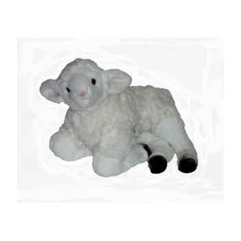Peluche allongée agneau 50 cm Piutre -725